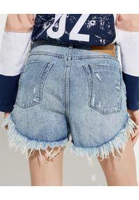 ONETEASPOON - Jeansowe szorty Outlaws Low Waist. Kolor: niebieski. Materiał: jeans. Wzór: aplikacja