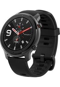 AMAZFIT - Smartwatch Amazfit GTR 47mm Lite Czarny (xiaomi_20200630171526). Rodzaj zegarka: smartwatch. Kolor: czarny