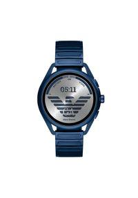Niebieski zegarek Emporio Armani smartwatch