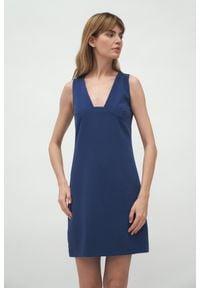 Nife - Mini Sukienka bez Rękawów - Kobaltowa. Kolor: niebieski. Materiał: poliester. Długość rękawa: bez rękawów. Długość: mini