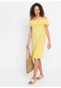 Żółta sukienka bonprix