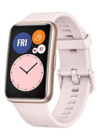 HUAWEI - Huawei Zegarek Watch Fit, Sakura Pink. Kolor: różowy. Styl: elegancki