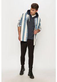 Niebieska bluza nierozpinana Tom Tailor melanż, z kapturem
