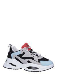 Casu - Wielokolorowe buty sportowe sneakersy sznurowane casu c08. Kolor: wielokolorowy. Materiał: skóra ekologiczna, materiał. Szerokość cholewki: normalna