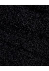 MARLU - Czarna spódnica z wełny. Okazja: do pracy, na spotkanie biznesowe. Kolor: czarny. Materiał: wełna. Sezon: zima, jesień. Styl: biznesowy, wizytowy, elegancki