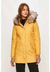 Żółta kurtka only z kapturem