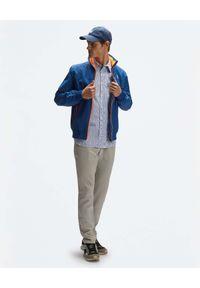 North Sails - NORTH SAILS - Beżowe spodnie z lnu. Kolor: beżowy. Materiał: len. Wzór: aplikacja