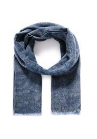 Pierre Cardin - Szal PIERRE CARDIN - 99173/000/2908 Marine 3000. Kolor: niebieski. Materiał: wełna, bawełna, materiał, poliamid. Styl: marine