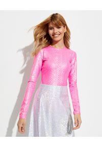 SAKS POTTS - Różowa bluzka Saya. Kolor: różowy, fioletowy, wielokolorowy. Materiał: materiał. Długość rękawa: długi rękaw. Długość: długie