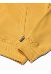 Żółta bluza Ombre Clothing z kapturem #7