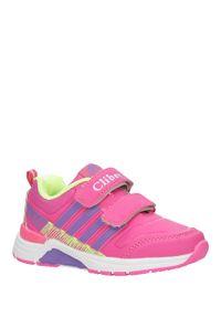 Casu - Różowe buty sportowe na rzepy ze skórzaną wkładką casu k-169. Zapięcie: rzepy. Kolor: różowy. Materiał: skóra