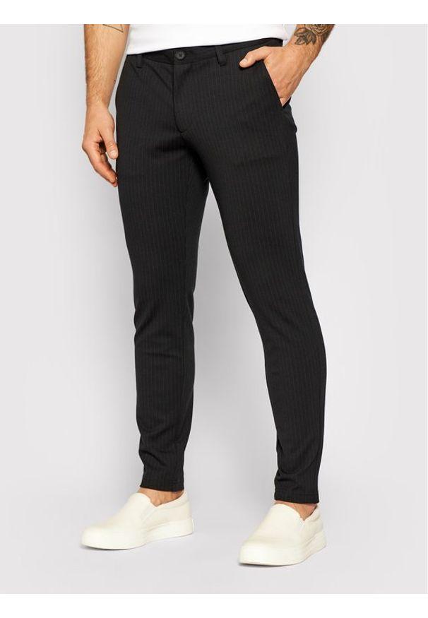 Only & Sons - ONLY & SONS Spodnie materiałowe Mark 22013727 Czarny Slim Fit. Kolor: czarny. Materiał: materiał