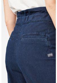 Wielokolorowe spodnie materiałowe G-Star RAW na co dzień, casualowe, z podwyższonym stanem