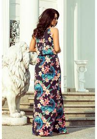 Sukienka Numoco na imprezę, w kwiaty, maxi, na lato