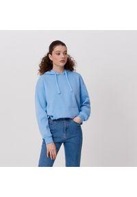 Niebieska bluza Cropp z kapturem
