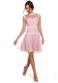 Sukienka wieczorowa MAKEOVER w koronkowe wzory