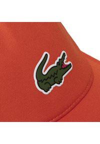 Pomarańczowa czapka Lacoste