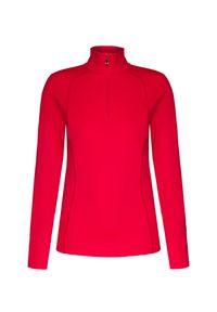 Czerwony sweter Bogner krótki, z golfem
