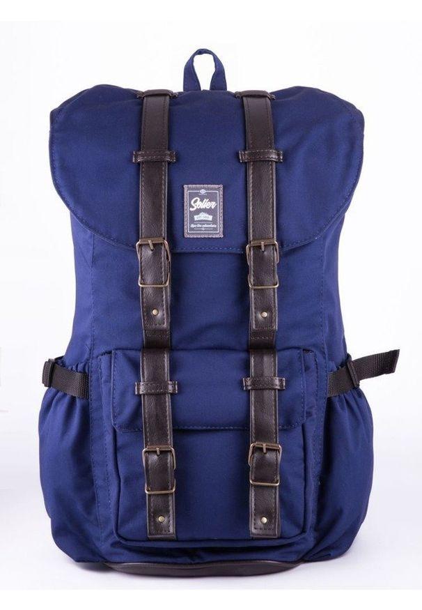 Niebieski plecak Solier sportowy