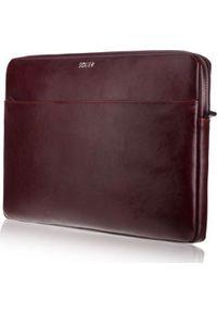 Czerwone etui na laptopa Solier