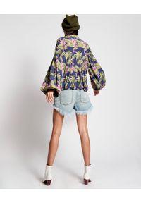 ONETEASPOON - Jeansowe szorty Montana High Waist. Stan: podwyższony. Kolor: niebieski. Materiał: jeans. Wzór: aplikacja