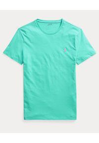 Zielony t-shirt Ralph Lauren polo, z haftami
