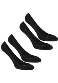 NEWFEEL - Skarpetki do chodzenia WS 140 Ballerina (2 pary). Kolor: czarny. Materiał: elastan, poliamid, bawełna. Sport: turystyka piesza