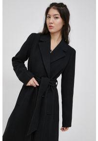 Y.A.S - Płaszcz wełniany. Kolor: czarny. Materiał: wełna