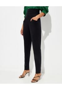 ISABEL MARANT - Spodnie z wysokim stanem Stoda. Stan: podwyższony. Kolor: czarny. Materiał: materiał. Długość: długie