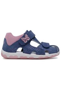 Superfit - Sandały SUPERFIT - 1-609041-8010 S Blau/Rosa. Kolor: niebieski. Materiał: skóra, zamsz