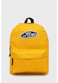 Vans - Plecak. Kolor: żółty. Wzór: aplikacja