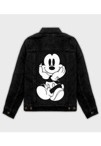 MegaKoszulki - Kurtka jeansowa damska Myszka Mickey. Materiał: jeans. Wzór: motyw z bajki. Sezon: wiosna. Styl: klasyczny