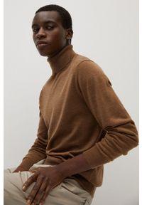 Sweter Mango Man z długim rękawem, z golfem, długi