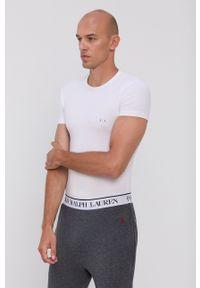 Armani Exchange - T-shirt (2-pack). Okazja: na co dzień. Kolor: biały. Materiał: dzianina. Wzór: gładki. Styl: casual