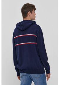 Niebieski sweter Lee Cooper długi, casualowy