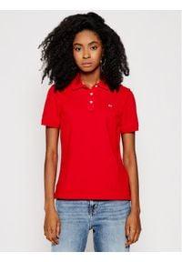 Tommy Jeans Polo Tjw DW0DW09199 Czerwony Slim Fit. Typ kołnierza: polo. Kolor: czerwony