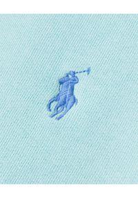 Ralph Lauren - RALPH LAUREN - Niebieska bluza bez kaptura. Typ kołnierza: bez kaptura. Kolor: niebieski. Materiał: polar, dresówka, bawełna, jeans. Wzór: haft