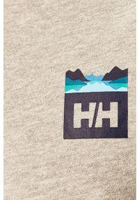 Szara bluza nierozpinana Helly Hansen z nadrukiem, bez kaptura