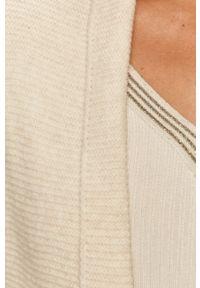 Biały sweter Morgan z aplikacjami, z długim rękawem