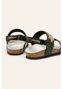 Czarne sandały Geox na rzepy