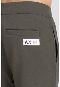 Brązowe spodnie dresowe Armani Exchange z nadrukiem #6