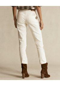 Ralph Lauren - RALPH LAUREN - Beżowe spodnie z aplikacją. Kolor: beżowy. Materiał: bawełna. Wzór: aplikacja #3