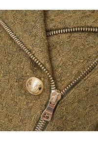 Balmain - BALMAIN - Kurtka ze złotymi guzikami. Kolor: zielony. Materiał: materiał. Wzór: aplikacja. Sezon: wiosna