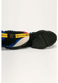 Czarne buty sportowe Big-Star na sznurówki, na obcasie