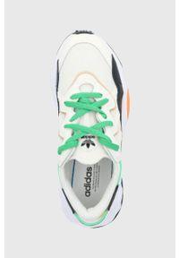 adidas Originals - Buty Ozweego. Nosek buta: okrągły. Zapięcie: sznurówki. Kolor: beżowy. Materiał: materiał. Obcas: na obcasie. Wysokość obcasa: niski