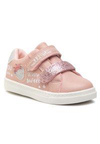 Nelli Blu - Sneakersy NELLI BLU - AVO-230-171 Pink. Zapięcie: rzepy. Kolor: różowy. Materiał: skóra ekologiczna, materiał. Szerokość cholewki: normalna. Wzór: aplikacja
