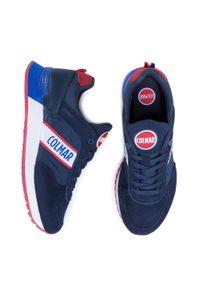 Colmar - Sneakersy COLMAR - Travis Runner 032 Navy. Okazja: na co dzień, na spacer. Kolor: niebieski. Materiał: zamsz, materiał, skóra ekologiczna, skóra. Szerokość cholewki: normalna. Styl: casual, sportowy