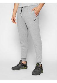4f - 4F Spodnie dresowe H4L21-SPMD010 Szary Regular Fit. Kolor: szary. Materiał: dresówka
