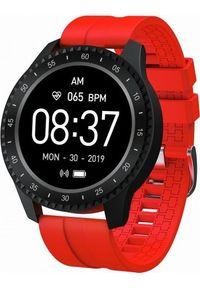 Czerwony zegarek Garett Electronics smartwatch, sportowy