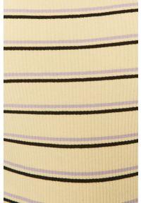 Wrangler - Top. Okazja: na co dzień. Kolor: żółty. Długość rękawa: na ramiączkach. Styl: casual